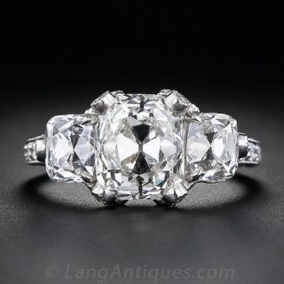 3.01 Carat  Cushion Cut  Diamond Ring by Fred Leighton