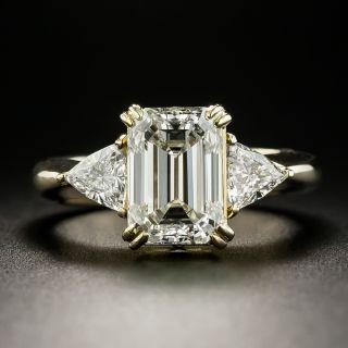 3.01 Carat Emerald-Cut Diamond Engagement Ring  - 1