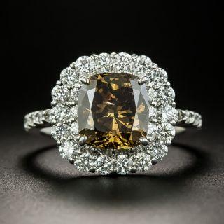 3.02 Carat Natural Fancy Dark Brown Diamond Ring - GIA - 1