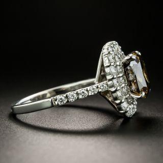 3.02 Carat Natural Fancy Dark Brown Diamond Ring - GIA