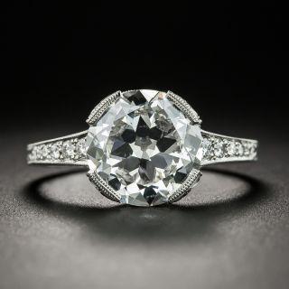 3.04 Ct. European Diamond Ring - GIA E SI1 - 1