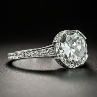 3.04 Ct. European Diamond Ring - GIA E SI1