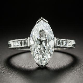 3.07 Carat 'Moval' Diamond Platinum Engagement Ring - GIA D SI1