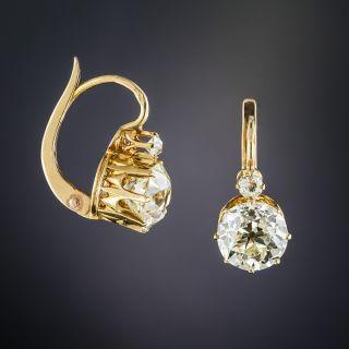 3.10 Carats French Diamond Earrings