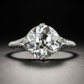 3.11 Carat European-Cut Diamond Ring - GIA L VS2