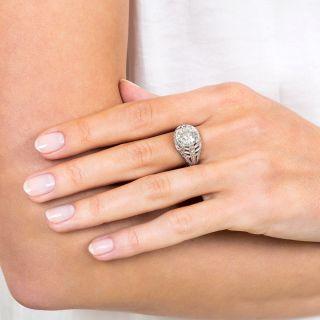 Art Deco 3.18 Carat Diamond Engagement Ring - GIA L I1