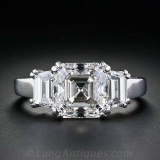 3.20 Carat Asscher-Cut Diamond Engagement Ring - GIA G/VS2 - 1