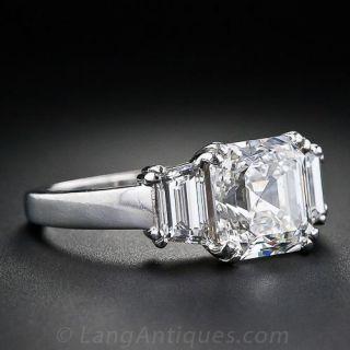 3.20 Carat Asscher-Cut Diamond Engagement Ring - GIA G VS2
