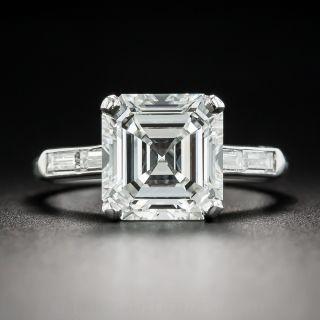 3.30 Carat Asscher-Cut Diamond Ring - GIA H VVS1 - 1