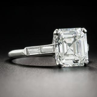 3.30 Carat Asscher-Cut Diamond Ring - GIA H VVS1