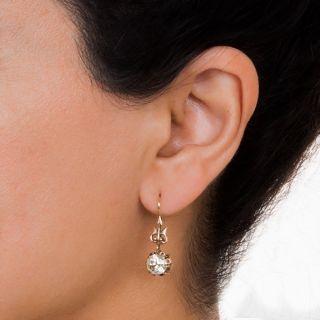 3.34 Carat Victorian Diamond Earrings - GIA