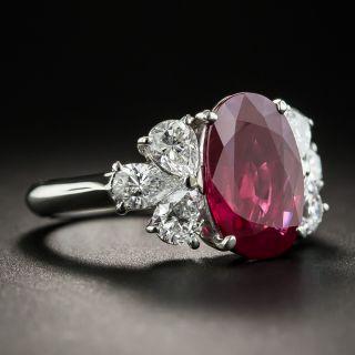3.37 Carat Burma Ruby Platinum Diamond Ring (GIA)
