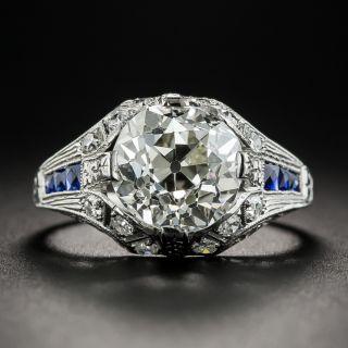 3.46 Carat Art Deco Diamond Engagement Ring - GIA L VS1 - 1