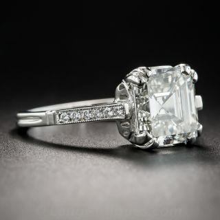 3.51 Carat Square Emerald-Cut Diamond Platinum Engagement Ring - GIA J VS2