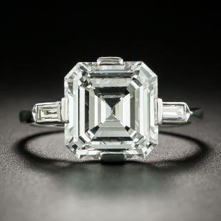 2.64 Carat Art Deco Emerald Cut Diamond Ring - GIA - 2
