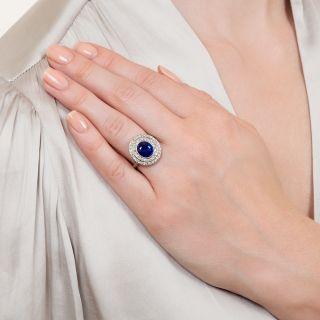 3.80 Carat No-Heat Burma Sapphire and Diamond Edwardian Ring