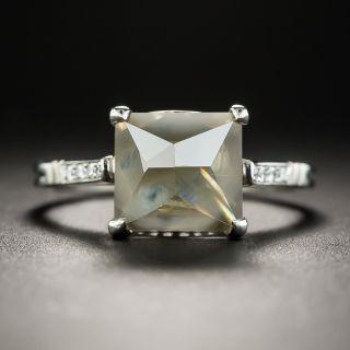 3.88 Carat Half-Octahedron Platinum Diamond Ring - 3