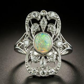Edwardian Opal and Diamond Dinner Ring - 1
