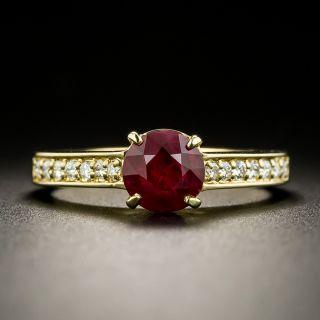 Estate 1.10 Carat Ruby and Diamond Ring - 0