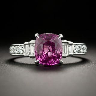 Estate 2.82 Carat Pink Sapphire and Diamond Ring - 1
