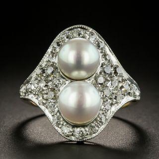 Edwardian Moi et Toi Pearl Ring - 1