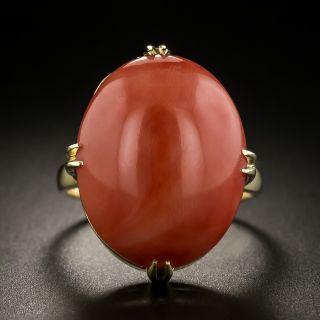 Vintage Coral Cabochon Ring - 1