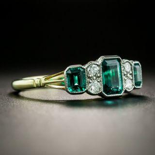 Art Deco Style Emerald and Diamond Ring