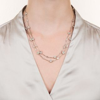 30 Carats Diamonds-by-the-Yard Necklace
