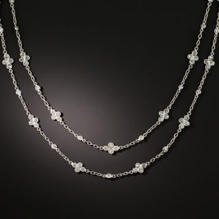 35 1/4 Inch 5.00 Carat Total Diamonds by the Yard Necklace - 2