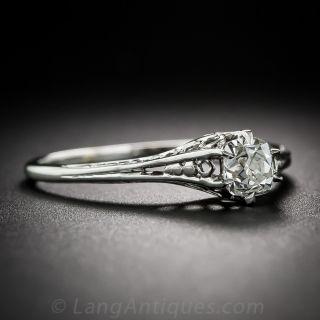 .35 Carat Antique Diamond Engagement Ring