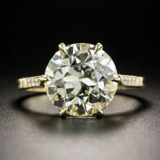4.07 Carat European Diamond 18K Engagement Ring - GIA M VS1 - 1