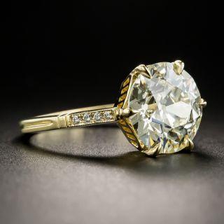 Lang Collection 4.07 Carat European-Cut Diamond Solitaire Ring - GIA M VS1