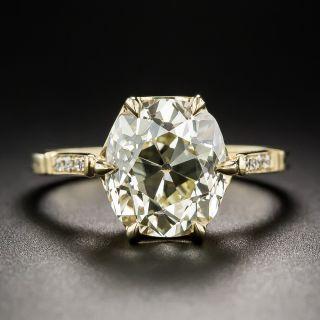 4.10 Carat Antique Cushion-Cut Diamond Ring - 1