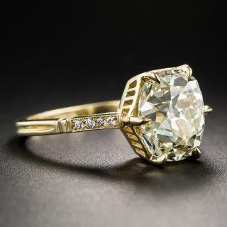 4.10 Carat Antique Cushion-Cut Diamond Ring
