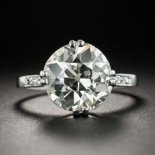 4.10 Carat European-Cut Diamond Solitaire Ring - GIA