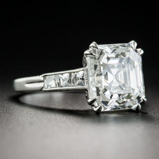 4.71 Carat Asscher-Cut Diamond Ring - GIA H VVS2