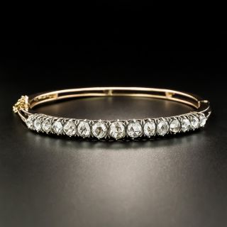 Victorian Rose-Cut Diamond Bangle Bracelet - 1