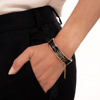 Victorian Taille d' Epargne Bangle Bracelet