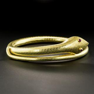 Vintage Textured Snake Bracelet  - 1