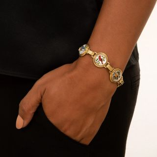 Victorian Reverse Intaglio Bird Bracelet