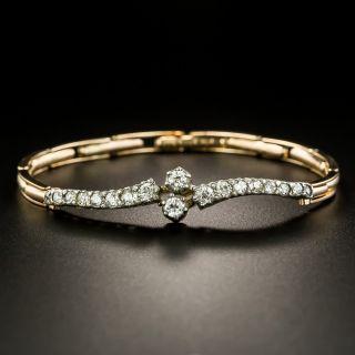 English Victorian Diamond Bypass Bracelet - 2