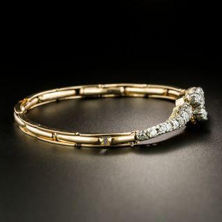 English Victorian Diamond Bypass Bracelet