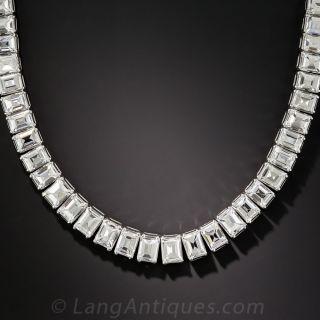 44 Carat Carré-Cut Diamond Riviere Necklace - 1
