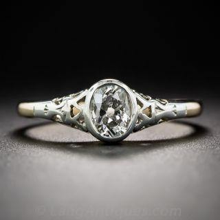 .45 Carat Oval Diamond Antique Engagement Ring
