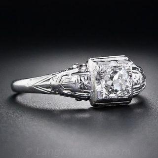 .48 Carat Art Deco Engagement Ring