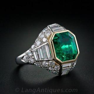 5.00 Carat Emerald  Diamond Ring - 1
