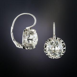 5.01 Carat Diamond Drop Earrings