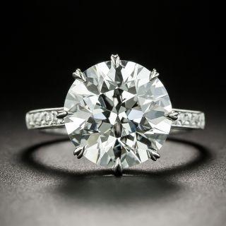 5.03 Carat European-Cut Diamond Ring  - GIA F VS1 - 2