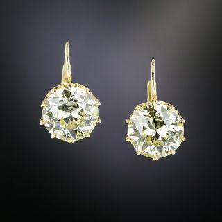 5.15 Carats Diamond Drop Earrings - GIA - 1