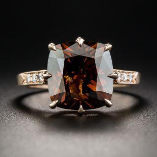 5.42 Carat Natural Fancy Dark Orange Brown Diamond Ring - 1